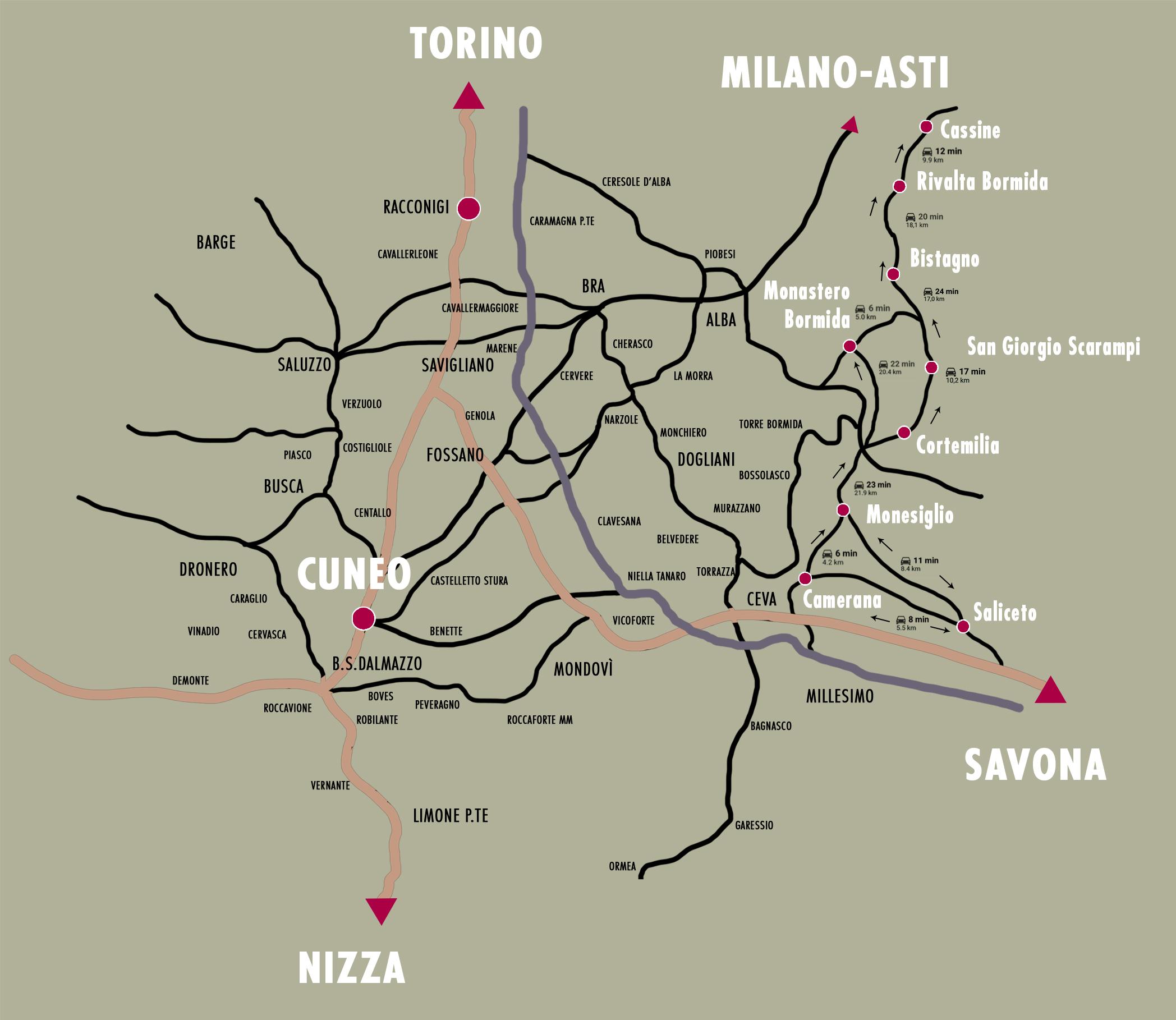 Cartina Basso Piemonte.Via Del Sale Itinerario Di Arte Contemporanea Tra Langhe E Monferrato Piemonte Expo